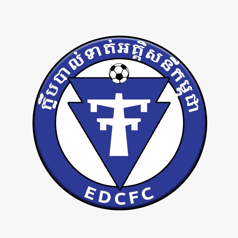 A rebrand of the Cambodian Football team: EDCFC. The crest is a simplified version of their pylon design, with modern international standards used.