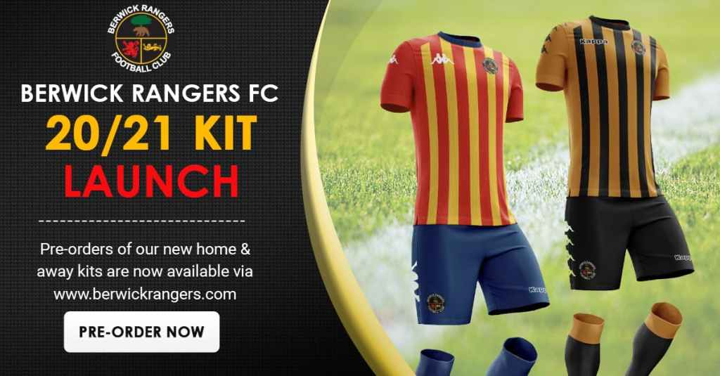 Clan United also provided a social media template example for supporting digital assets. Above, displays the new kit mockups with the Northumberland colouring on the away strip (left).