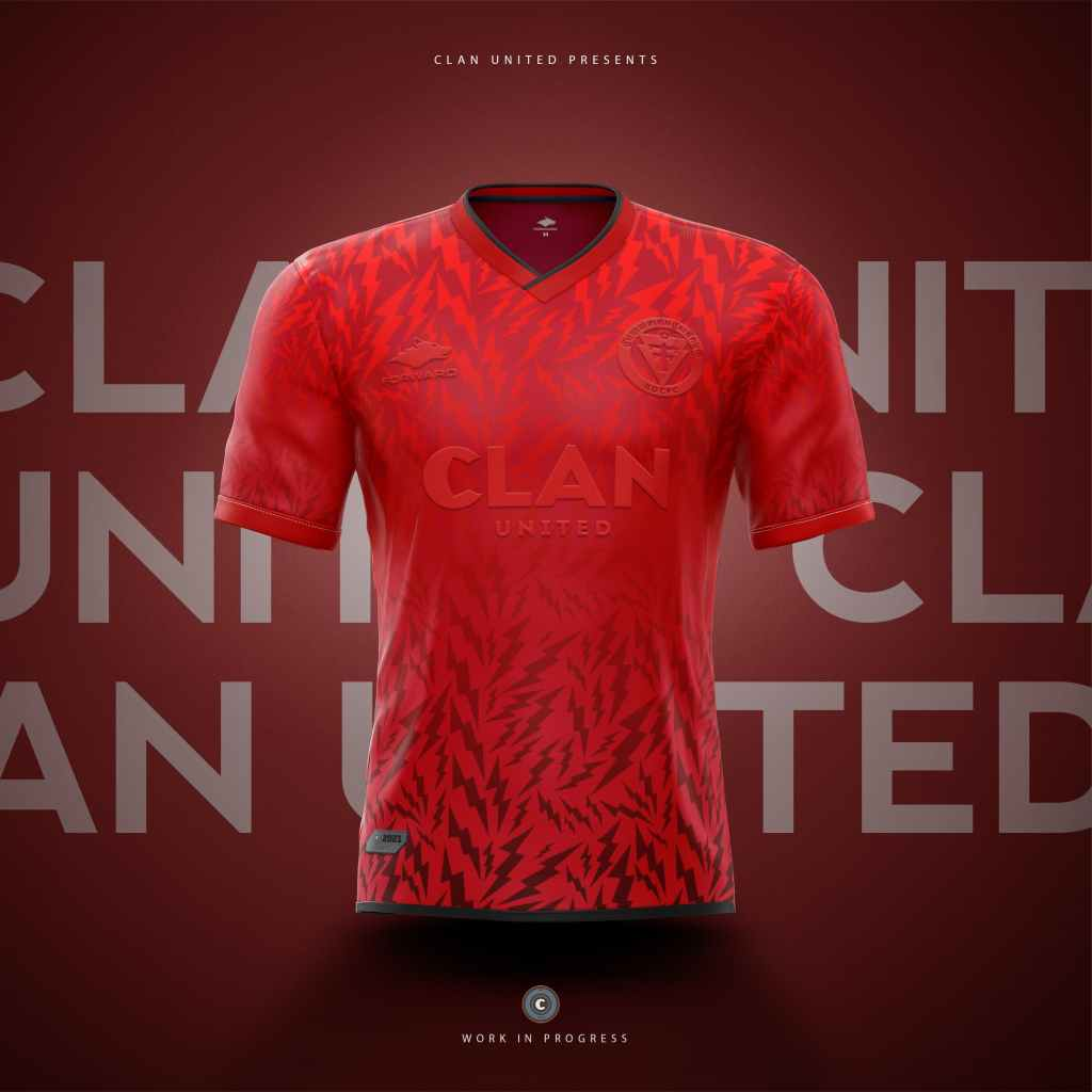 A concept mockup of an EDCFC third shirt, using the rebrand of the football club crest - designed by Clan United.